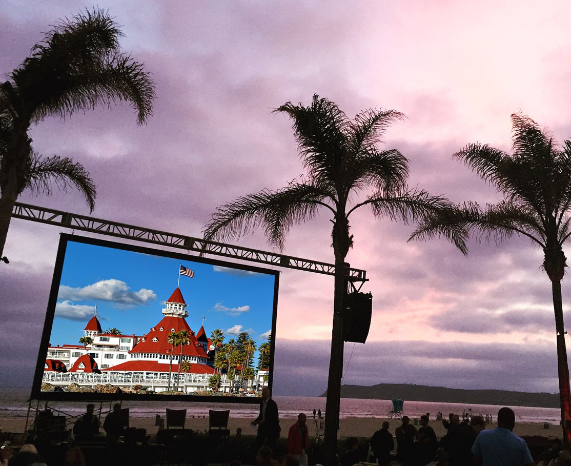 Image result for Holiday Movies on the Beach at The Del
