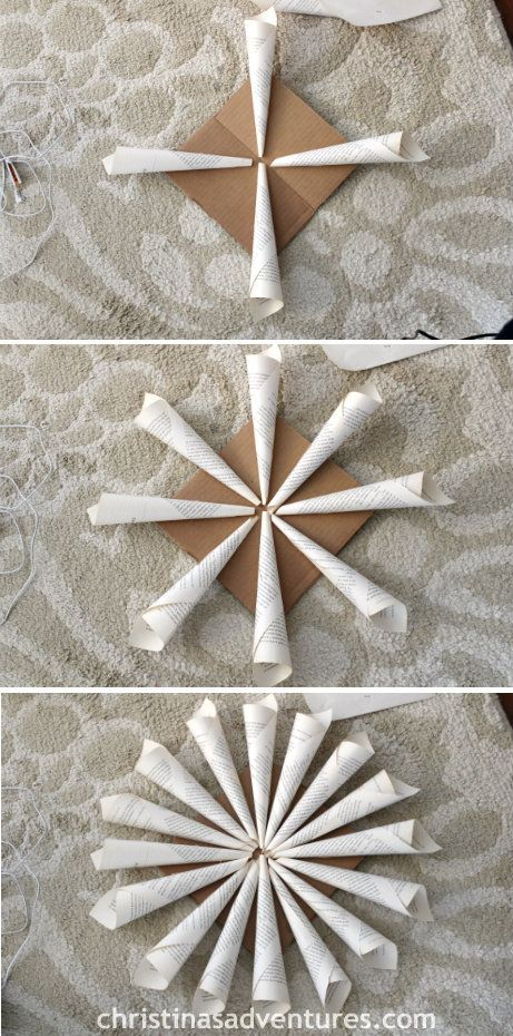 Rolled Book Page Wreath Crafts Book Page Wreath Paper