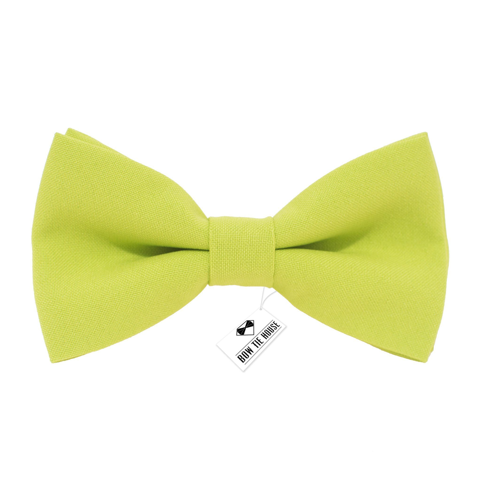 f81813be65d9 Solid pre-tied Bright Pistache Bow Tie in classic color gabardine fabric ( Small, Medium, Large)
