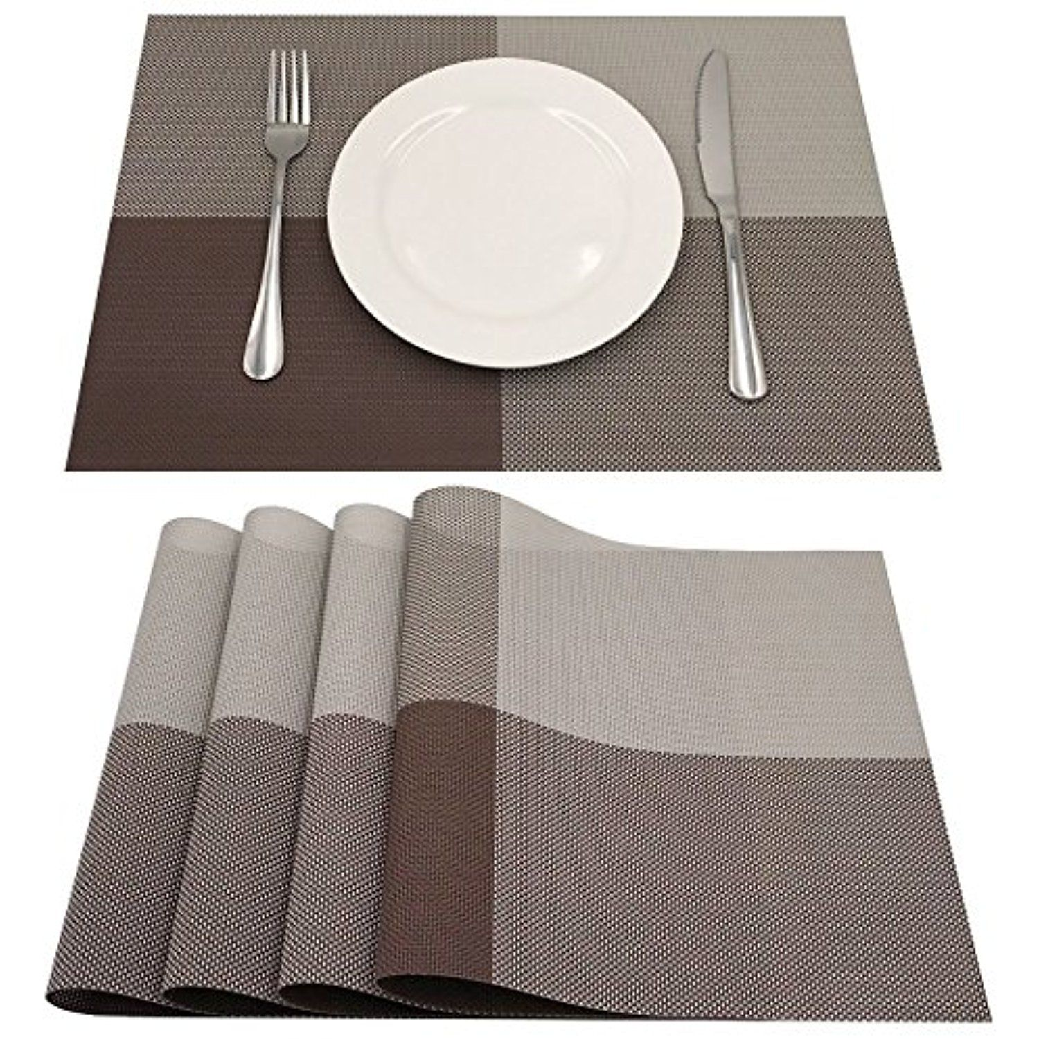 Amzmoo Placemats Set Of 4 Placemats Dining Table Mat Anti Slip