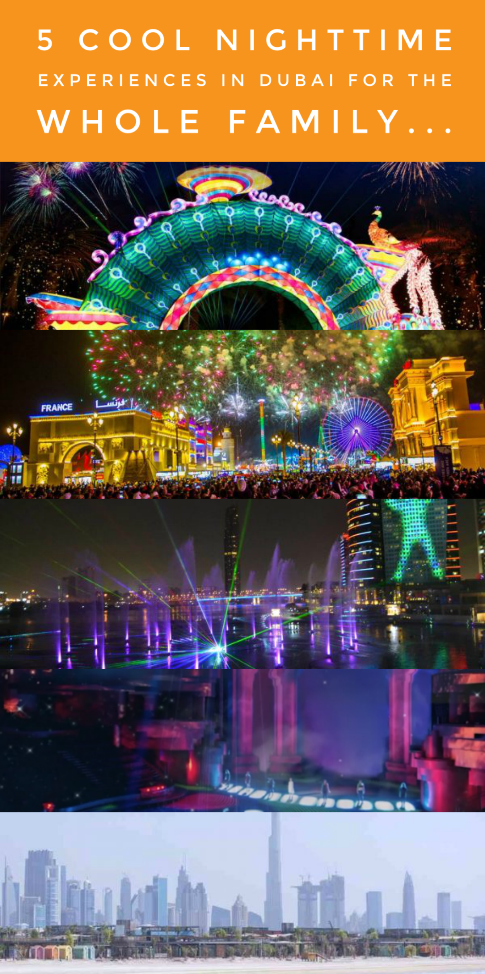 5 Cool Nighttime Experiences in Dubai For the Whole Family