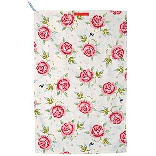 Emma Bridgewater Rose And Bee Tea Towel, 2015 Amazon Top Rated Kitchen Linen Sets #Home