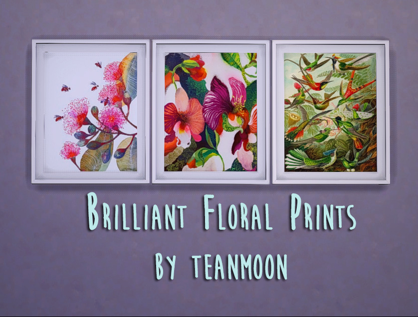 Brilliant Floral Prints By Teanmoon 15 Images Requires Mesh By Ung999 Download Floral Prints Floral Prints