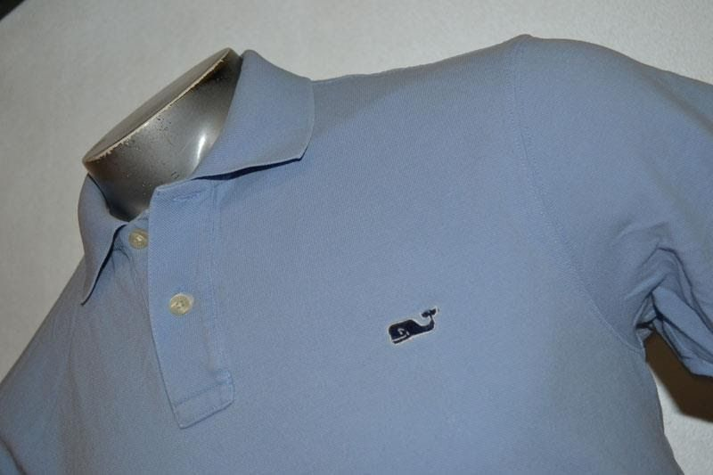 5803-a Mens Vineyard Vines Polo Shirt Size Medium Blue 100% Cotton