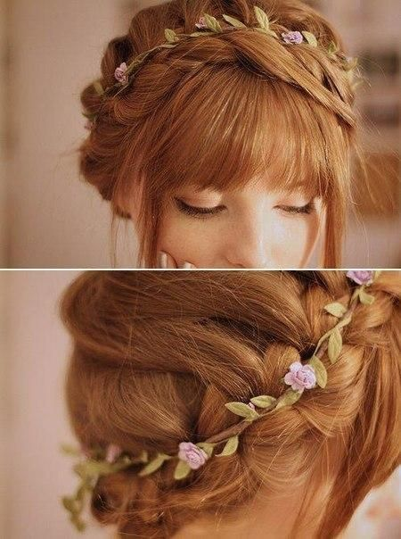 Love This Flower Crown So Simple And Delicate And Feminine Hair Styles Prom Hairstyles For Long Hair Long Hair Styles
