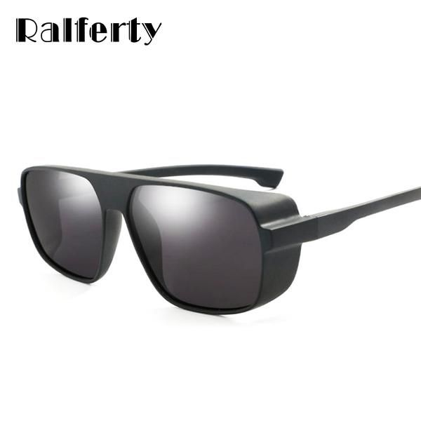 b154dcef6d3 Ralferty HD Polarized Sunglasses Men Vintage Male Driver Glasses Steampunk  Goggles Black Square K1015  Discounts