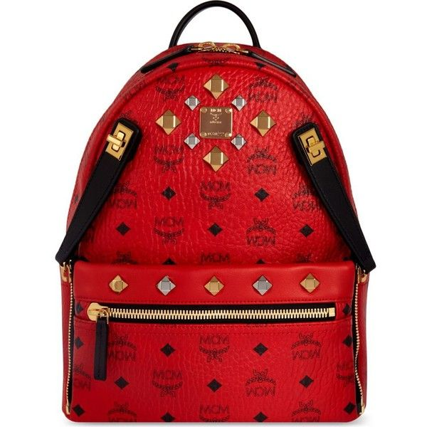0c0b0bc3ac MCM dual stark small backpack ( 895) ❤ liked on Polyvore featuring bags