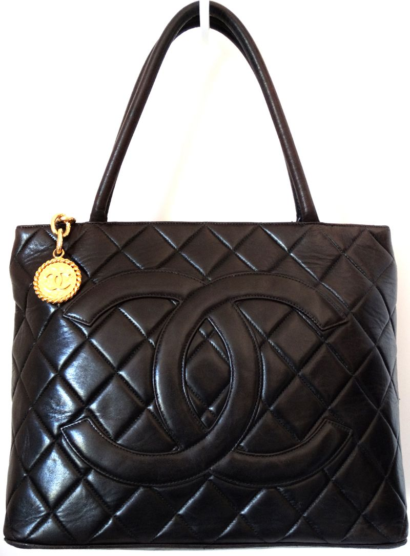 Chanel Designer Handbags Dark Brown Quilted Leather Re Issue Shoulder Tote Bag Gold Cc Purse