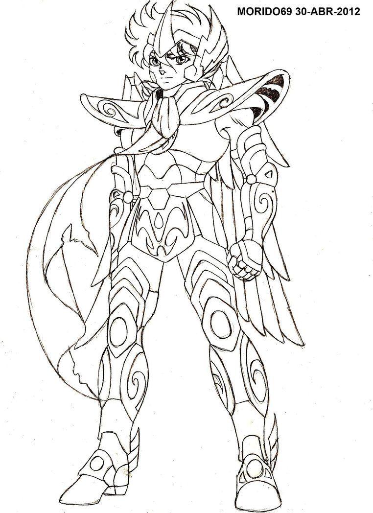 Coloriage Chevalier Du Zodiac.Seiya De Sagitario Saint Seiya Omega Boceto By Muertito69