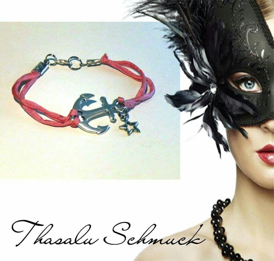 Maritim,  Anker Armband mit Stern,  zu finden auf Facebook Thasalu Schmuck   https://m.facebook.com/Thasalu-Schmuck-Chunks-Co-295839107195113/
