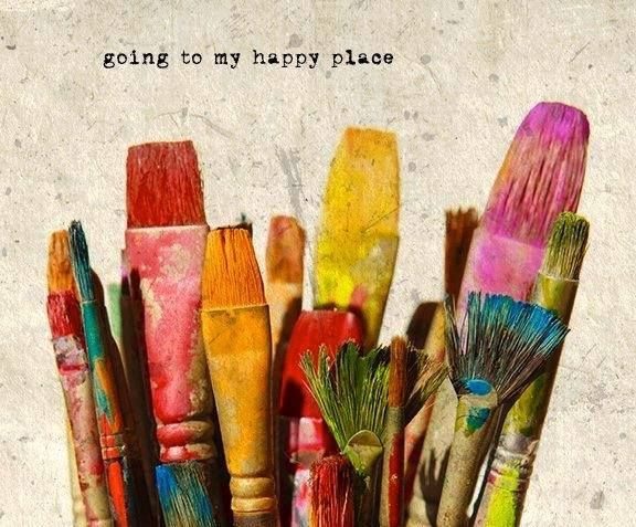 I would never do that to my brushes; nonetheless, there's beauty in this. Going to my happy place...