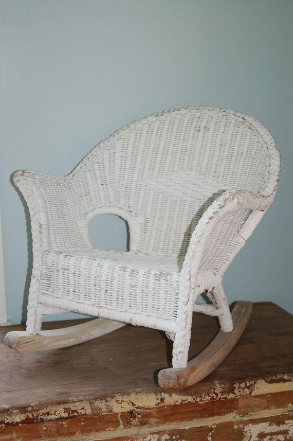 Antique Wicker Chair Antique Child S Chair Wicker Rocking Chair