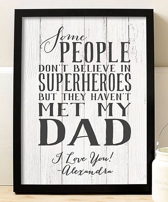 My Dad the Superhero Personalized Print