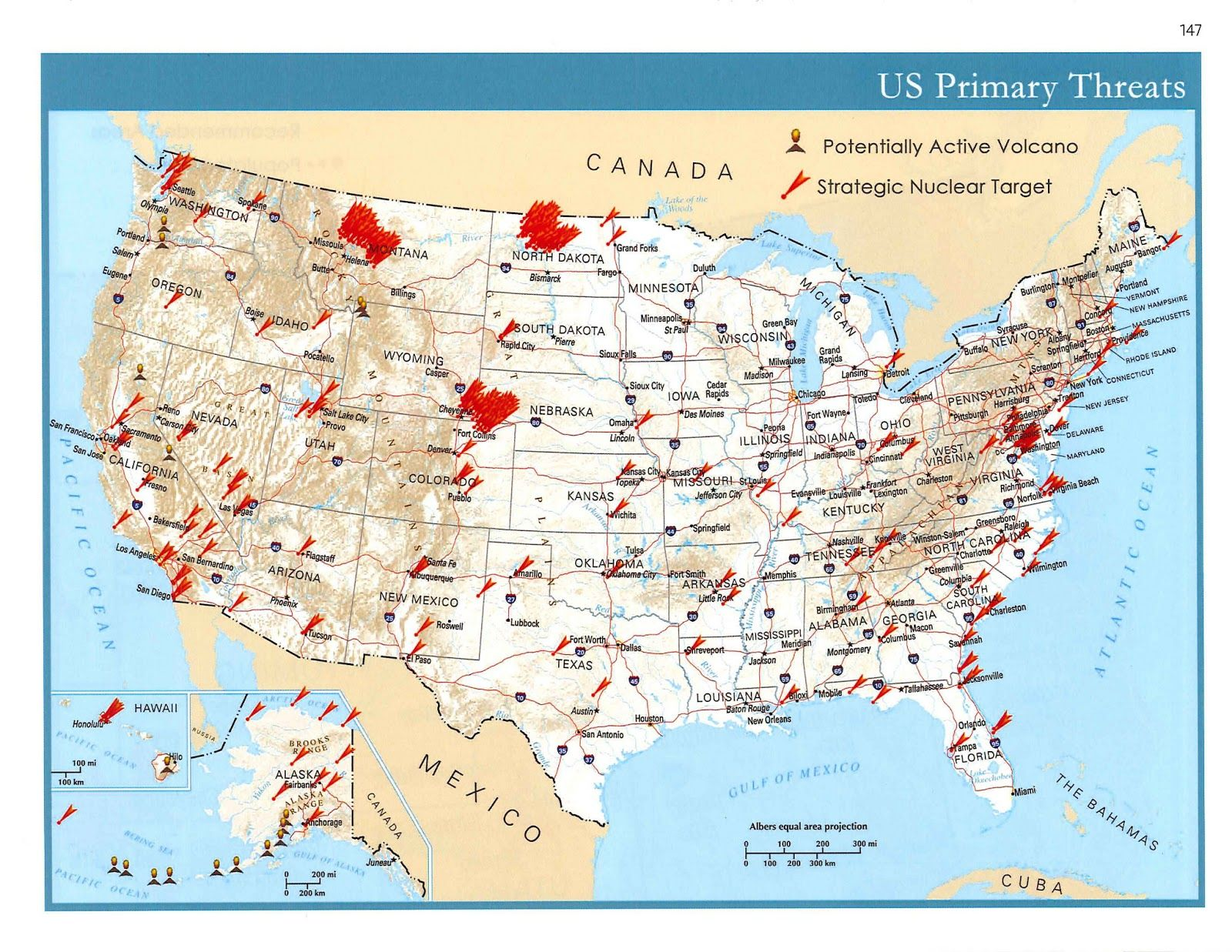 Map Of Fallout Canada Map of Potential Nuclear Targets in America and Canada | Prepper