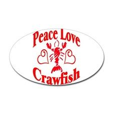Download PeaceLoveCrawfish1tran Sticker (Oval) Peace Love Crawfish ...
