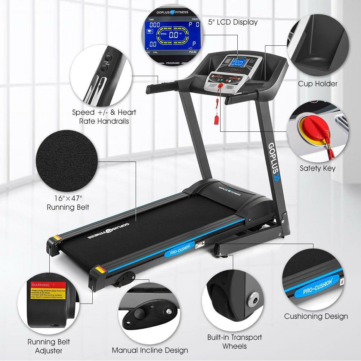 2.25 HP Folding Electric Treadmill Motorized Power Running