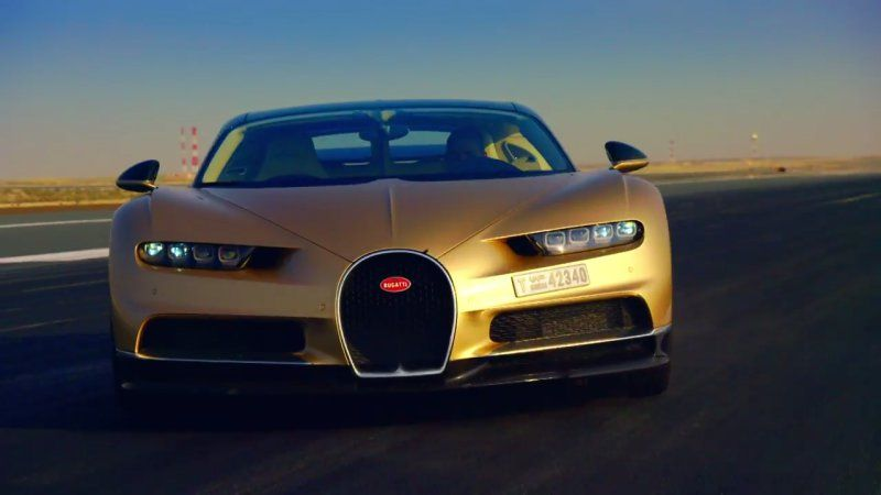 Cool Top Gears Latest Trailer Shows Off A Golden Bugatti Chiron