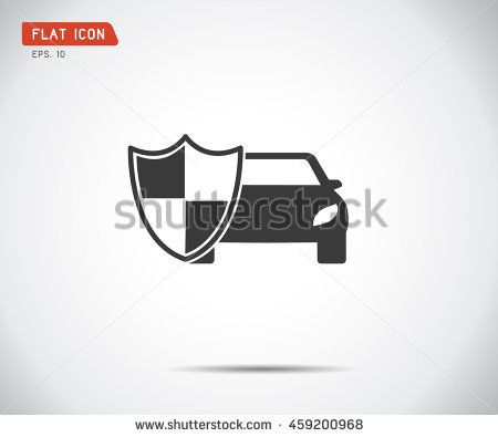 Vehicle Icon Shield Auto Car Guard Insurance Logo Vector Illustration