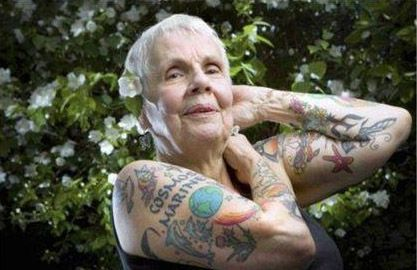 Old Wrinkly People With Tattoos It Is My Body Do Not Tell Me That I M Going To Regret My Tattoos I Tattoo Love Tattoos Tattoos