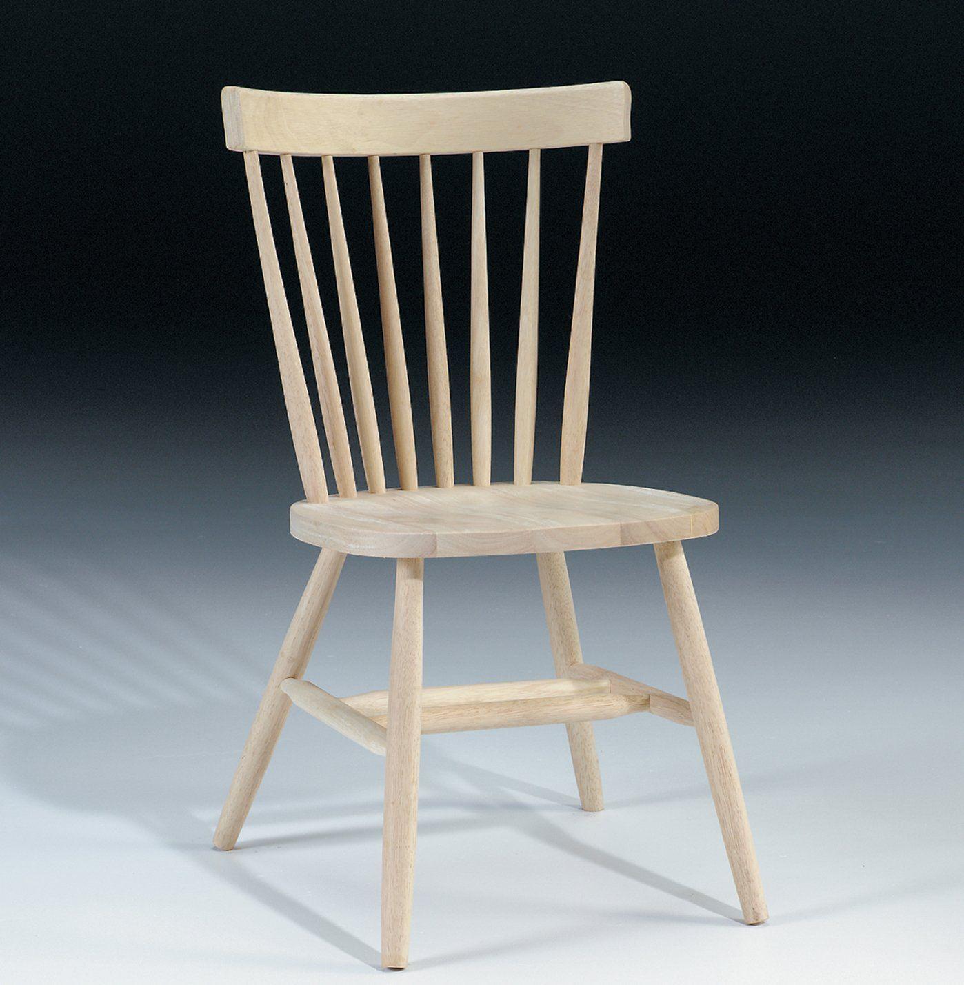 International Concepts Unfinished Copenhagen Chair