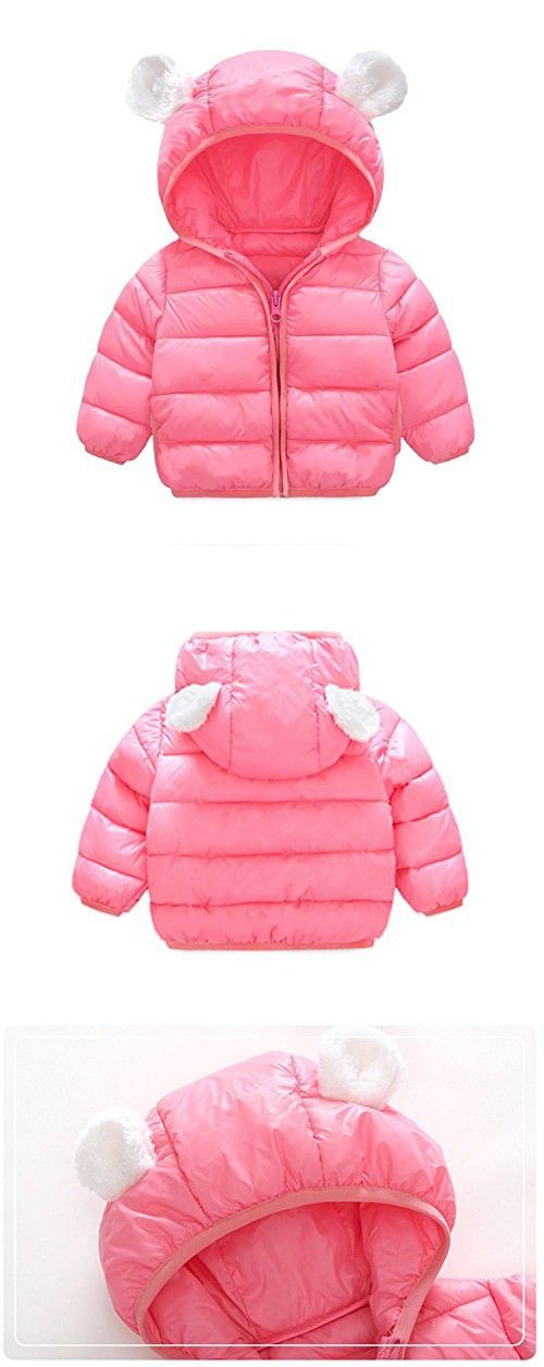 db9bf5a3ffe6 Baby Boys Girls Winter Warm Cotton Puffer Coats Cartoon Lightweight ...