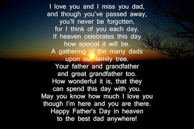 Fathers Day To My Dad In Heaven Poems Fathers Day Greetings