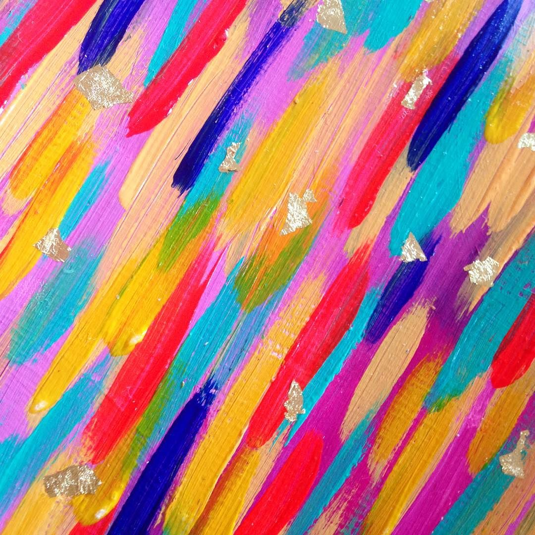 """Some brights to get get going on your Monday!!  #brightbrushstrokes #ettaveestudio"""