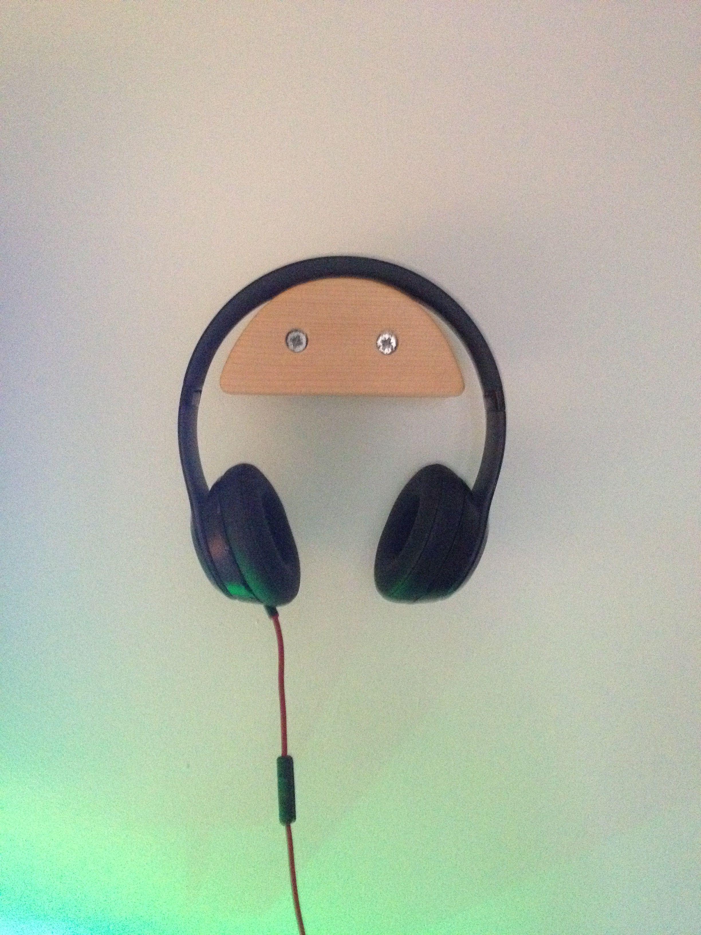 Wall Mounted Headphone Stand Cool Diy Ideen Diy Paletten