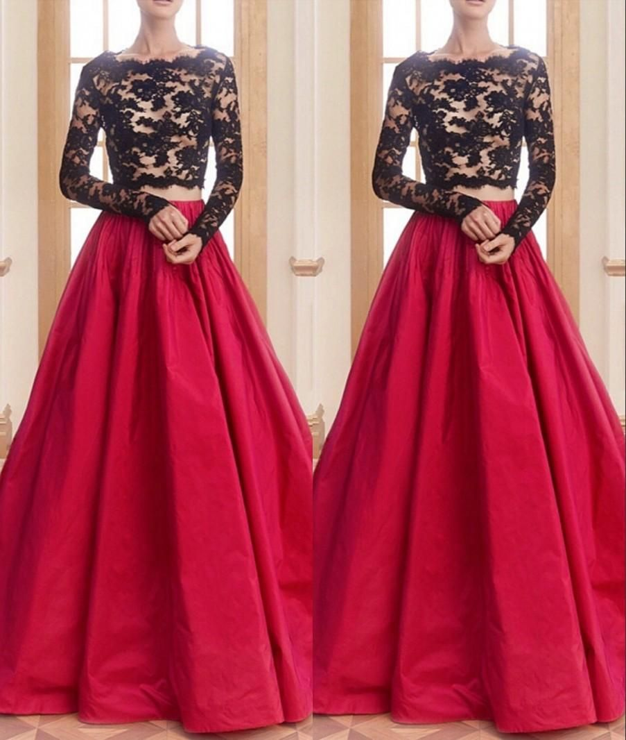mermaid black long sleeve prom dresses gold lace appliques sexy