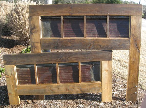 Colton rustic roof tin bed queen d w design 500 for Rustic roof
