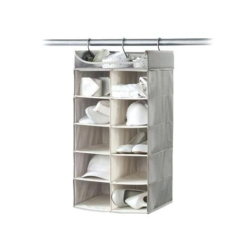 Super Hanging Closet Cubbies Ilrations Lovely Or 2 X 5 Cubby Organizer With Top Shelf Harmony Twill Co Neatfreak