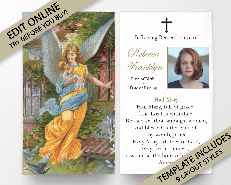 Prayer Cards Memorial Prayer Cards Catholic Prayer Cards Etsy Prayer Cards For Funeral Prayer Cards Prayer Cards Printable
