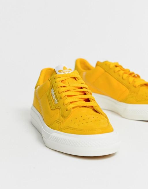 adidas Originals Continental 80 Vulc sneakers in mustard | ASOS ...