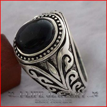 2014 mode 925 Sterling Silver jepang Retro batu akik hitam alami kupu-kupu sayap kelas cincin untuk wanita dengan batu untuk Esquire