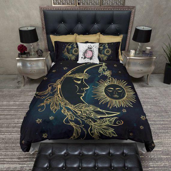 Favorite Lightweight BOHO Sun Moon and Stars Bedding - Celestial Design - C  ZF05