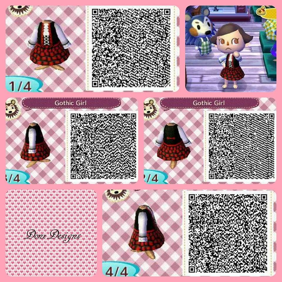 Gothic Girl By Donzdesigns Animal Crossing Qr Codes Animal