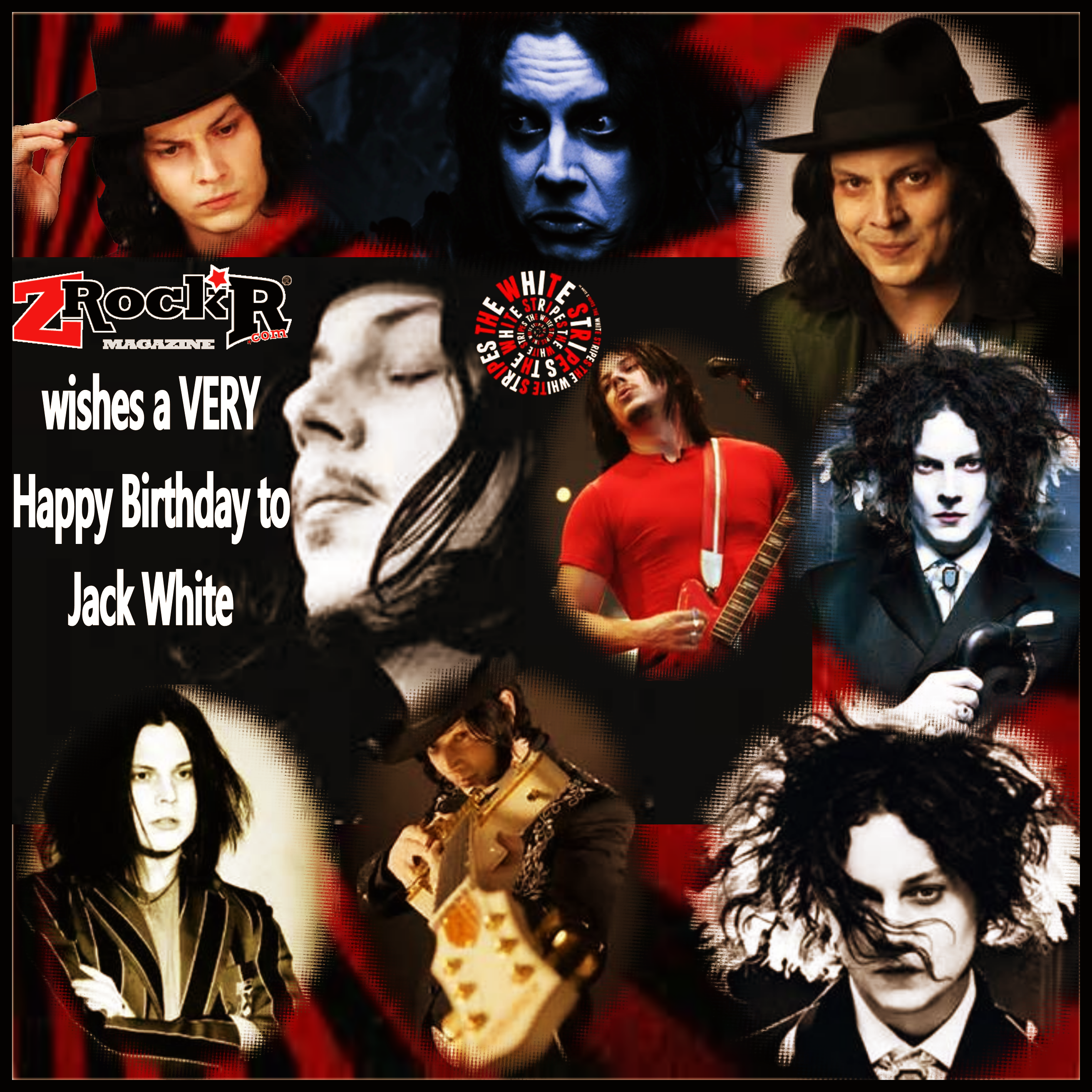 Jack White collage' LisaKay Allen/PassionFeast photoartist