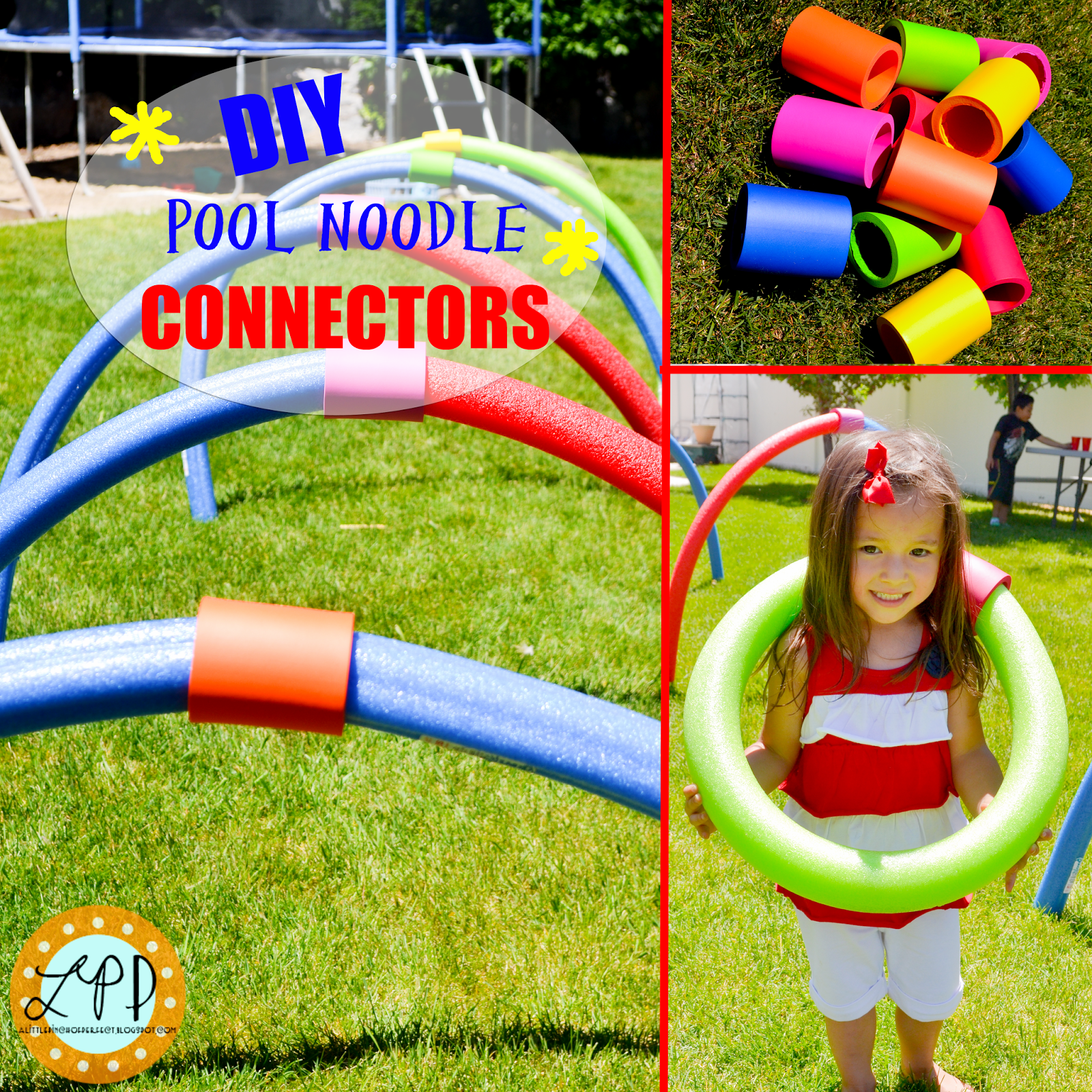 Koozie Connectors at Dollar Tree or Hobby Lobby DIY Pool Noodle