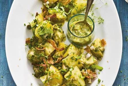 Aardappelkruidensalade met spek - Recept - Allerhande - Albert Heijn