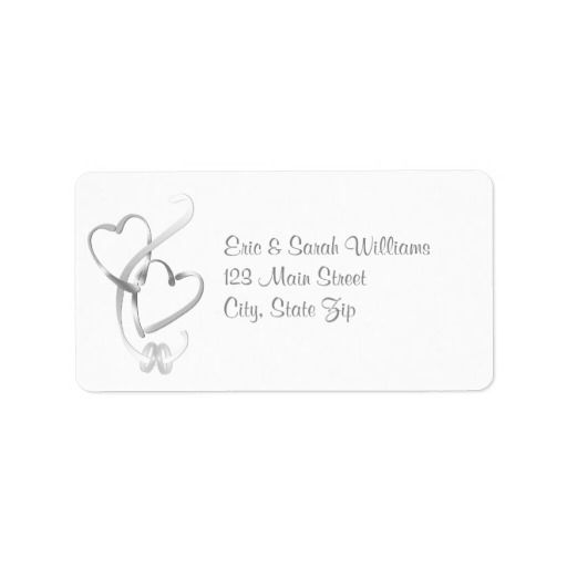 how to silver hearts wedding address labels you will get best price
