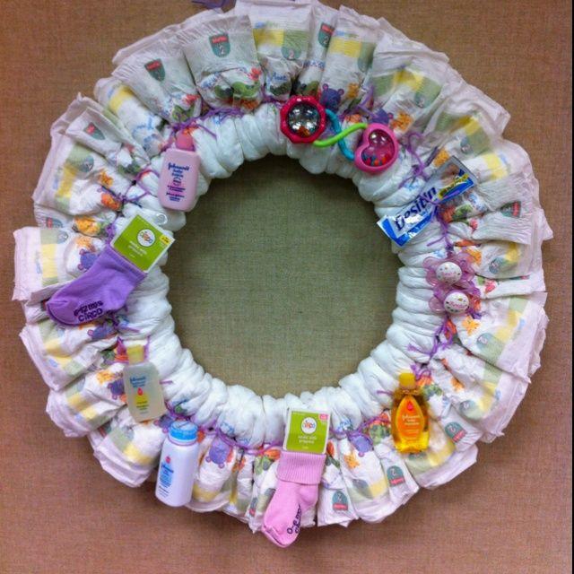 Pin By Glenda Williamson On Arts Crafts Diaper Wreath Baby
