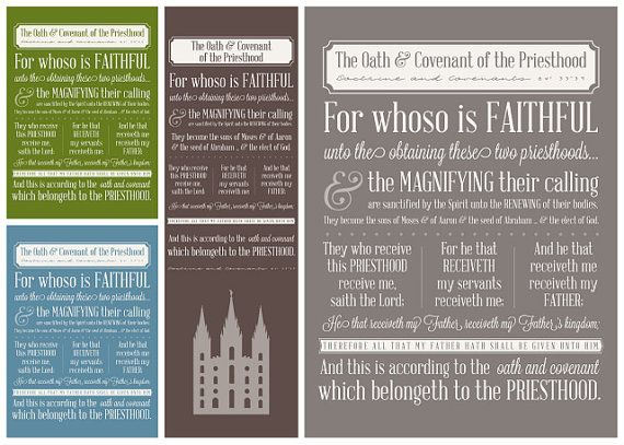 photo about Oath and Covenant of the Priesthood Printable named Oath Covenant of the Priesthood - Subway Artwork - Quick