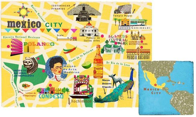 Ciudad De Mexico Mexico City Map By Anna Simmons Mexico City Map City Maps Illustration Illustrated Map