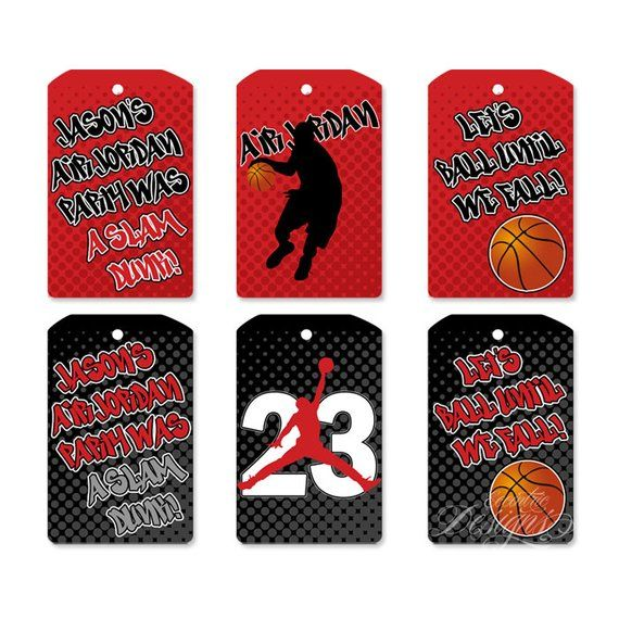 2c7ed5f6754 Set of 9 Air Jordan Party Hangtags - You Print - Jumpman Party | Jumpman  Baby Shower | Air Jordan Ba