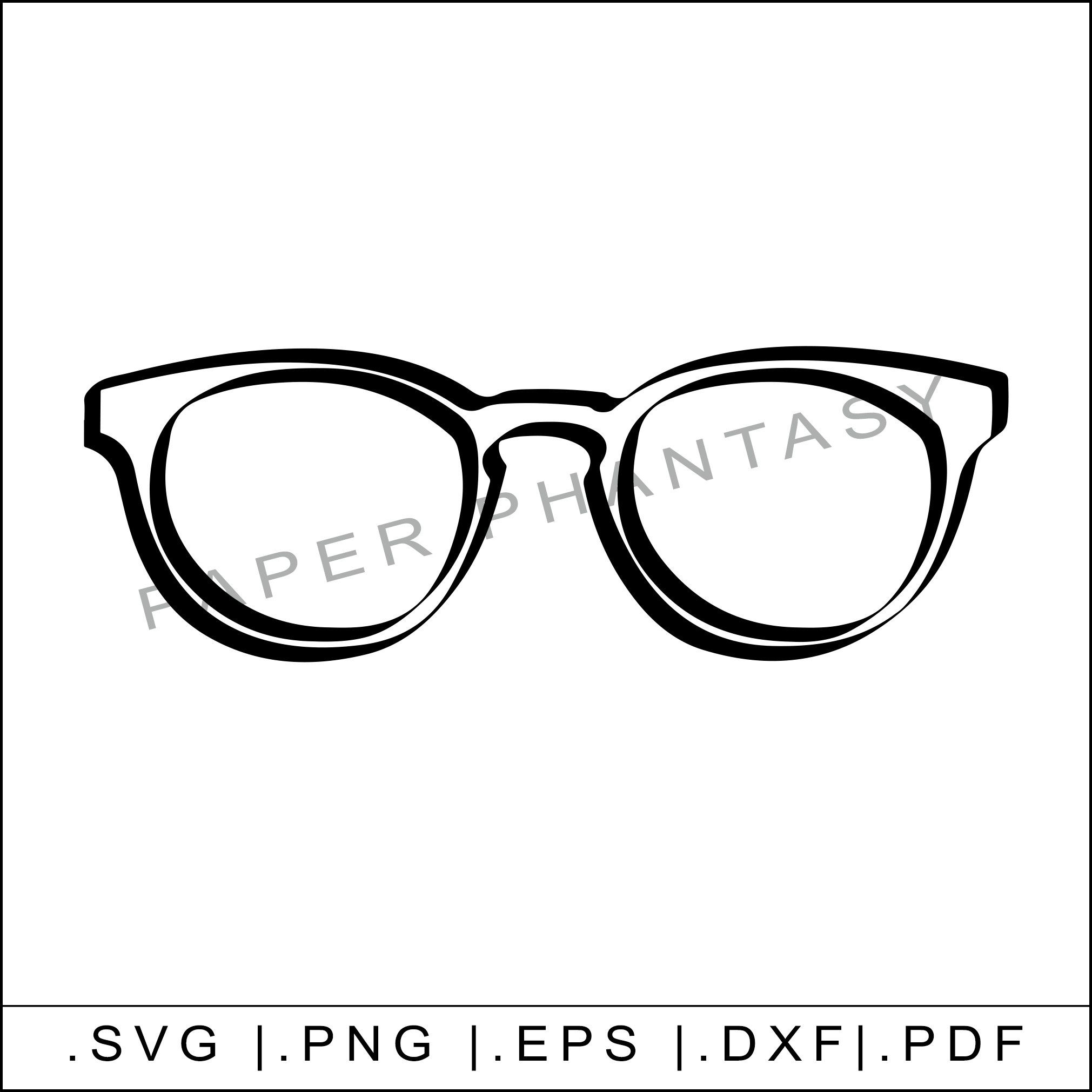 Grunge Glasses Svg Hipster Reading Sun Silhouette Instant