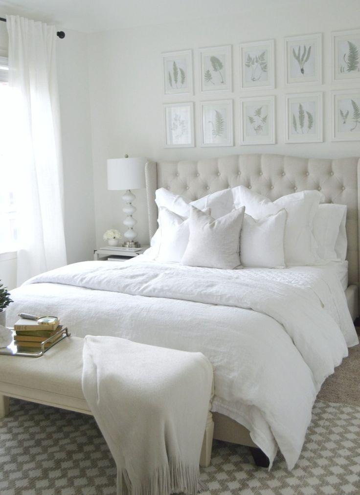 Clean Fresh White Bedroom White Master Bedroom