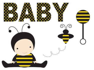 Cute baby as bee