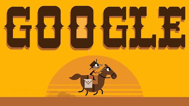 Google S Pony Express Logo Google Doodles Doodle Online Pony Express