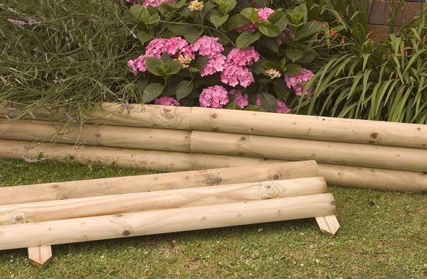 Wood Edging Ideas Gardening Backyard Pinterest 400 x 300