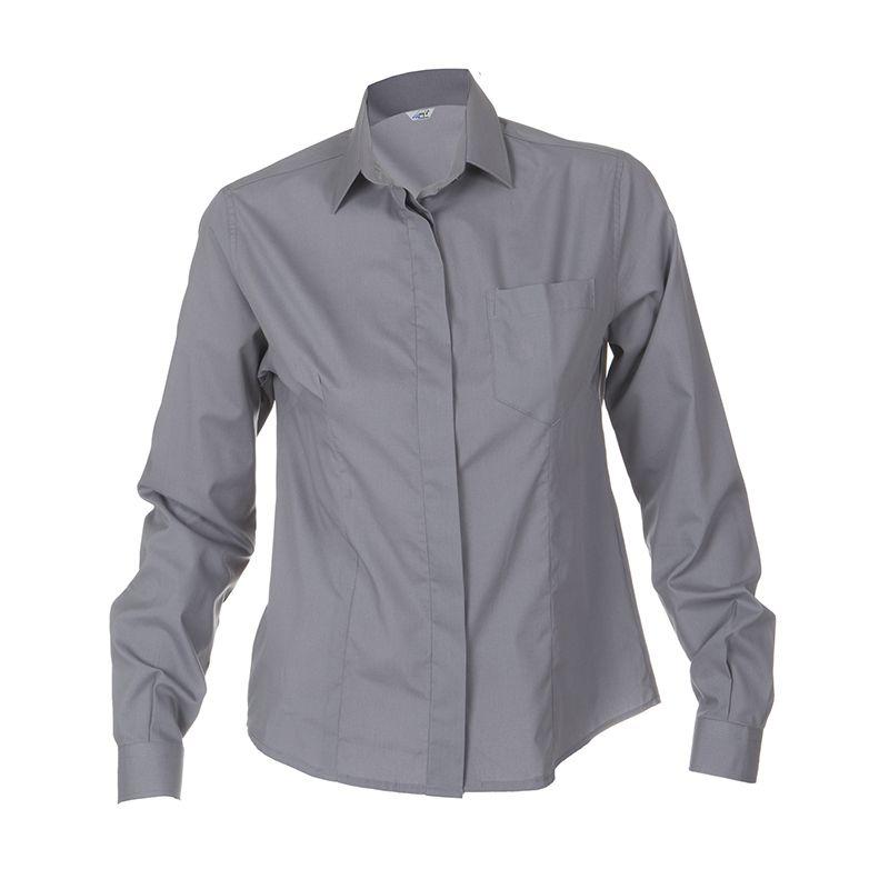 fb297062c8 2481 Camisa chica manga larga color gris perla  uniformes  hostelería   camarero  Garys